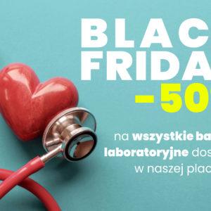 Z okazji Black Friday -50% na wszystkie badania laboratoryjne dostępne w Noble Medicine! Zniżka obowiązuje od 29 listopada do końca grudnia!