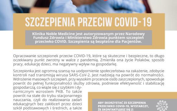 Autoryzowany punkt szczepień przeciwko COVID-19 w Noble Medicine