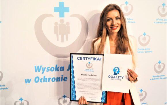 """Noble Medicine z certyfikatem """"Wysokiej Jakości w Ochronie Zdrowia"""""""